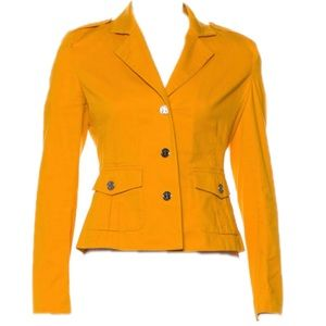 ⬇️$98 Tory Burch Mustard Yellow Blazer Jacket